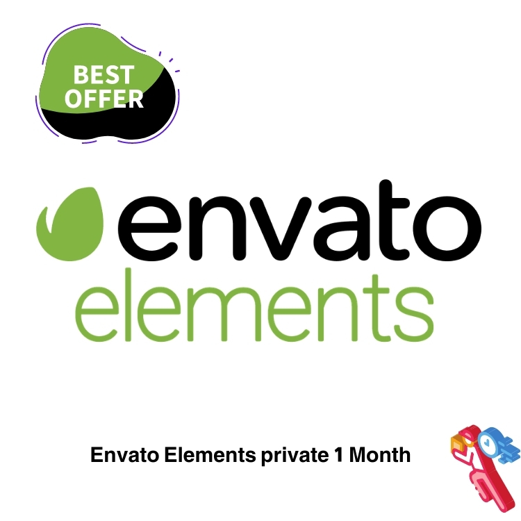 Envato Elements Account rent for 1 Month