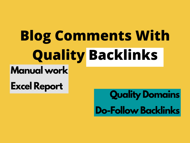 I'll manually write 100 niche-related blog comments with high-quality backlinks