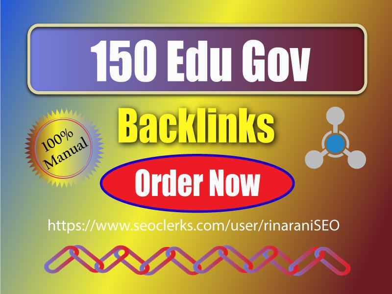 Create 150 SEO Edu Gov Do-follow Backlinks for rank your website