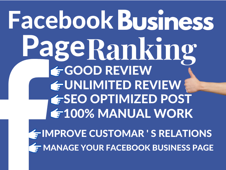20 Facebook business page professionally ranking