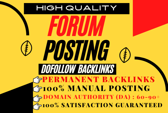 I will create manually 30 Forum Posting SEO Backlinks for Google Ranking