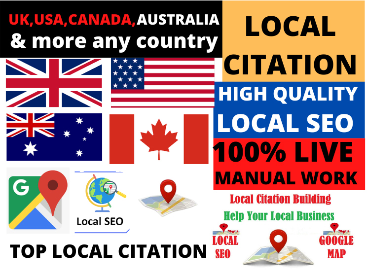 High Quality manual 40 local citations for any country and directory submission for business ranking