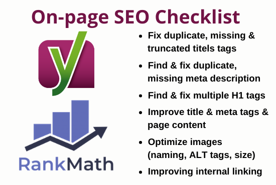 I will do on page SEO optimization using Yoast Rank Math for wordpress websites