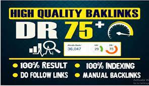 Build 10 Manual High Dr75 Plus Homepage SEO Dofollow Backlinks