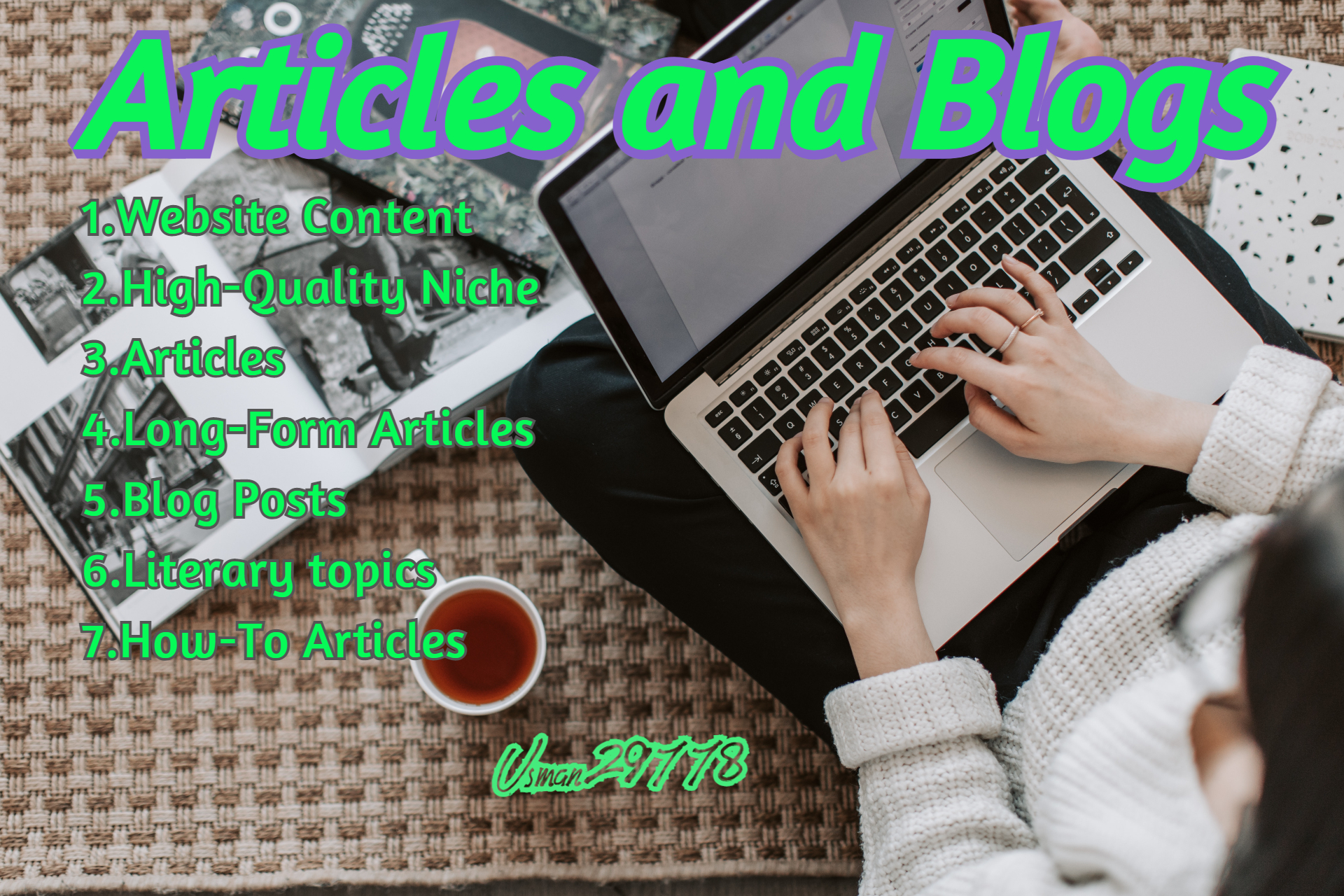 I will write a high quality seo article and blog post