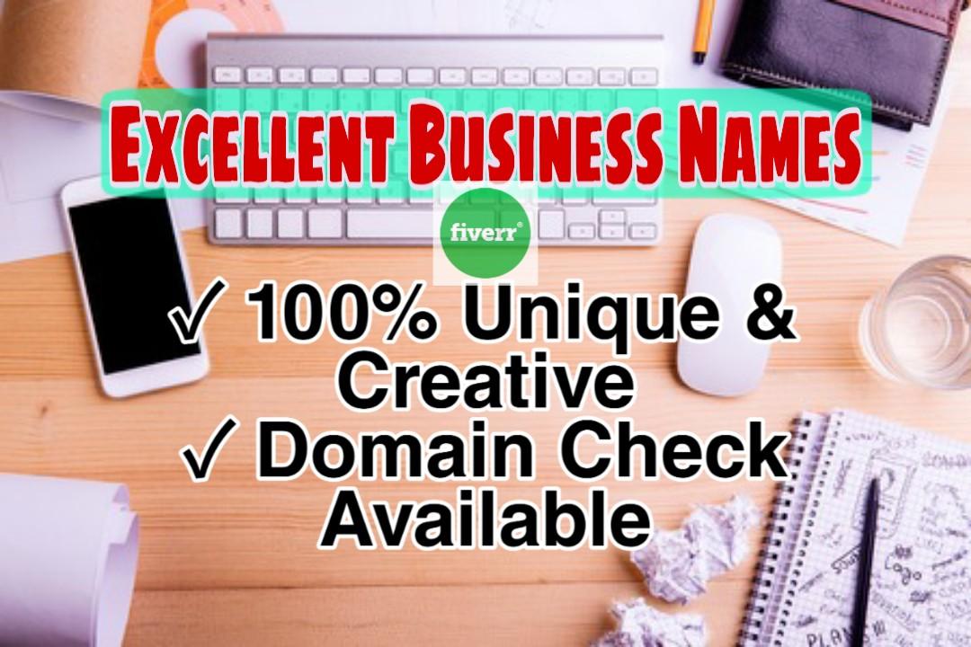I will create premium, SEO friendly business name, brand name, domain name and slogan