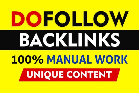 do 999 high quality SEO dofollow backlinks link building