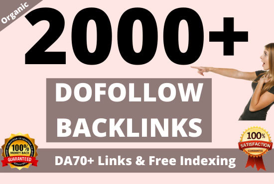 2000 high quality white hat contextual SEO dofollow backlinks