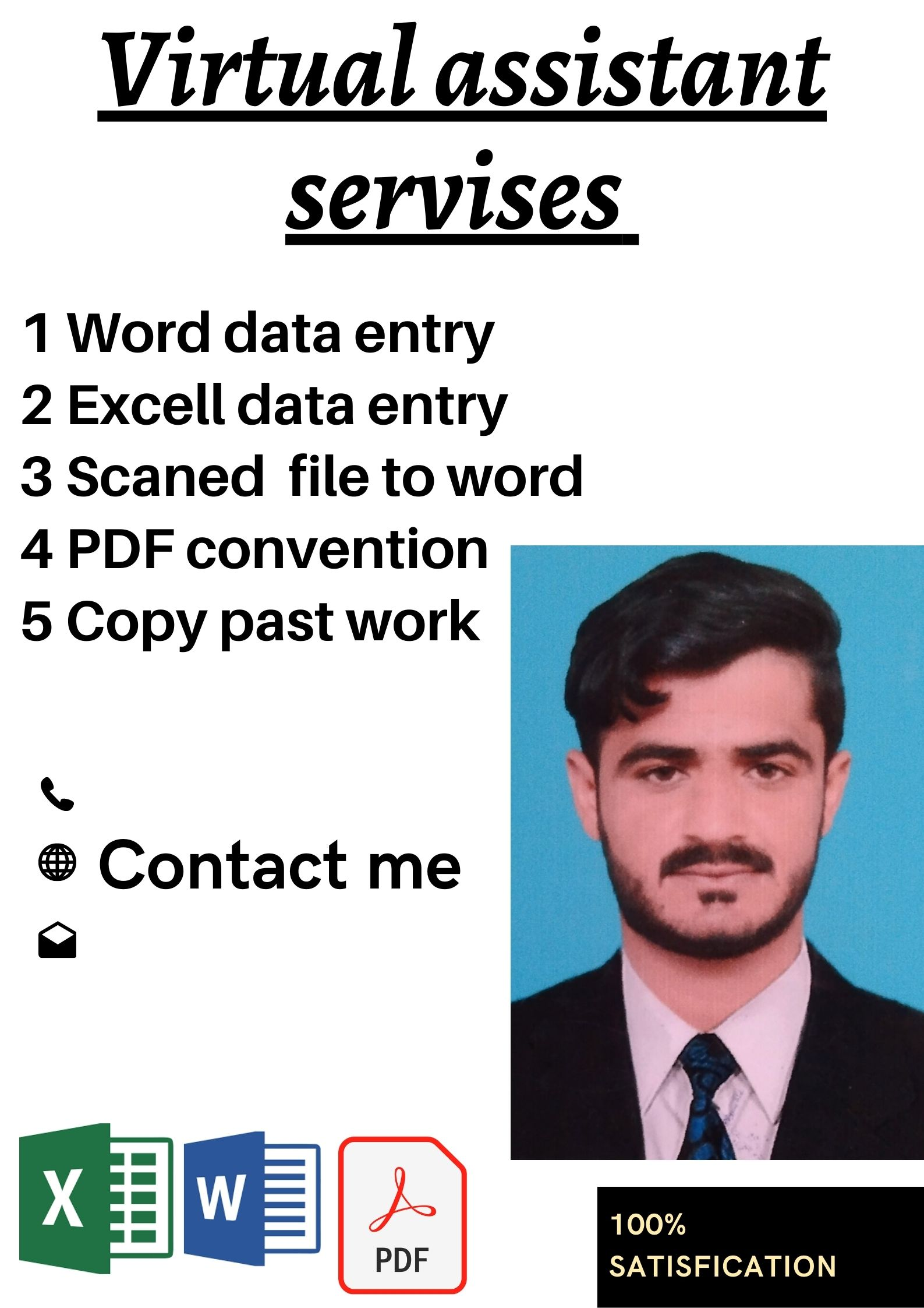 im expert in computer and data entry and have expriece in social media marketing and translations