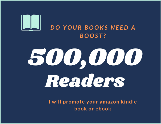 I will do kindle book promotion or ebook promotion