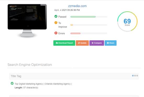 Professionally SEO report website analysis