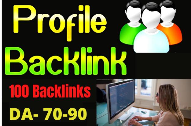Create manual 100 High Quality PR9 DA 90-70 profile Backlinks
