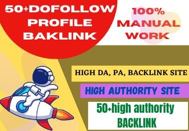 Create manual 50 High Quality PR9 DA 100-70 profile Backlinks