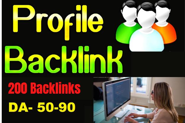 Create manual 200 High Quality PR9 DA 90-50 profile Backlinks