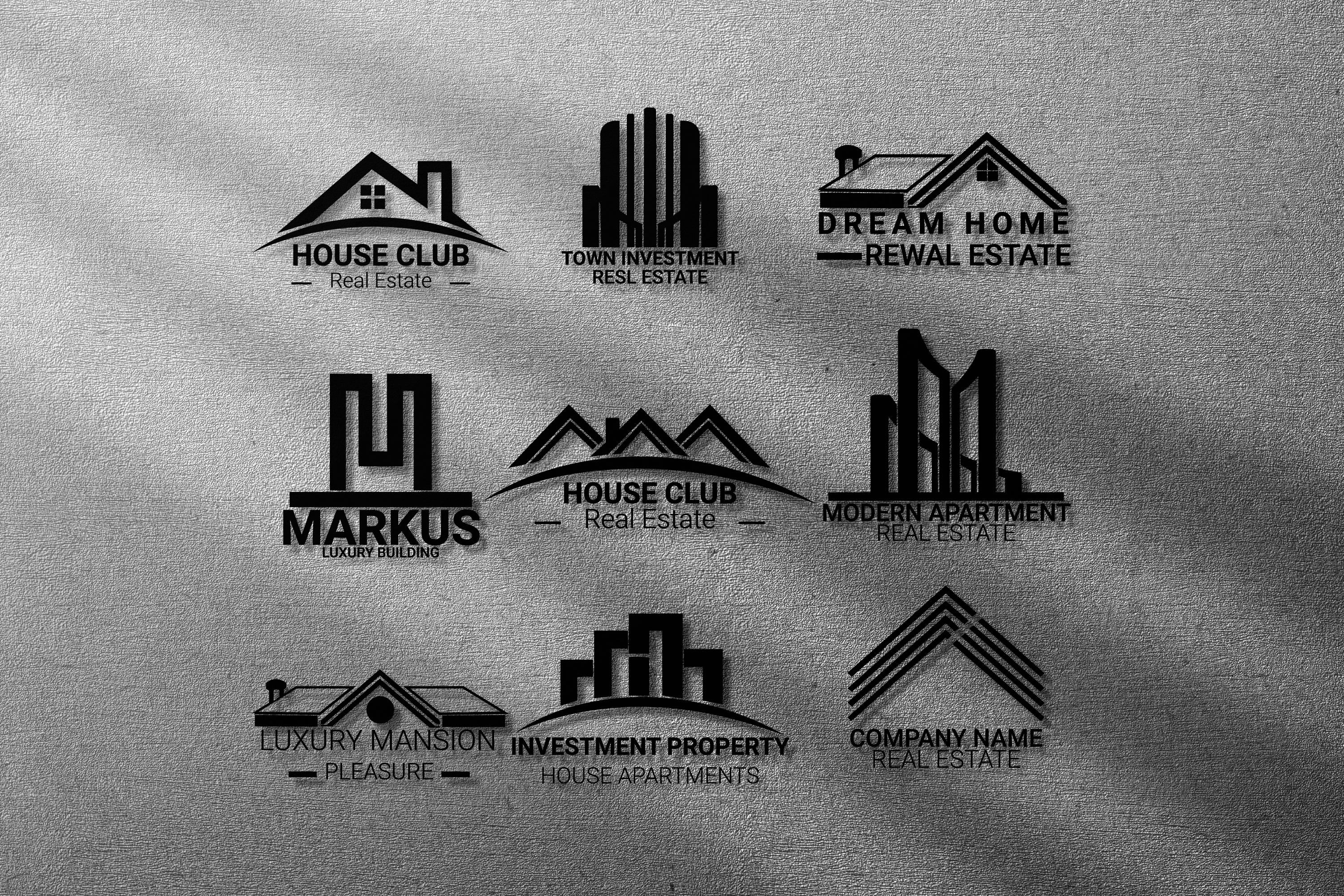 i am expert in unique real estate logo with branding package