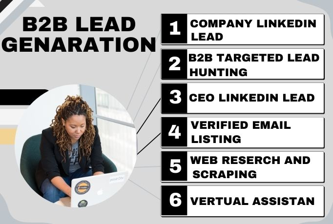 I will do 30 b2b lead generation LinkedIn lead and email listing