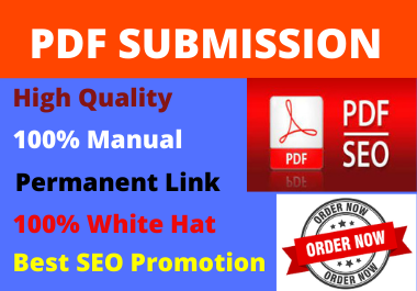 80 PDF Submission low spam score high authority DA permanent backlinks and high quality