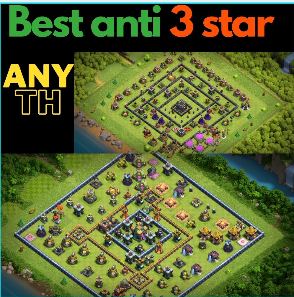 Design you a custom clash of clans anti 3 star base for any townhall