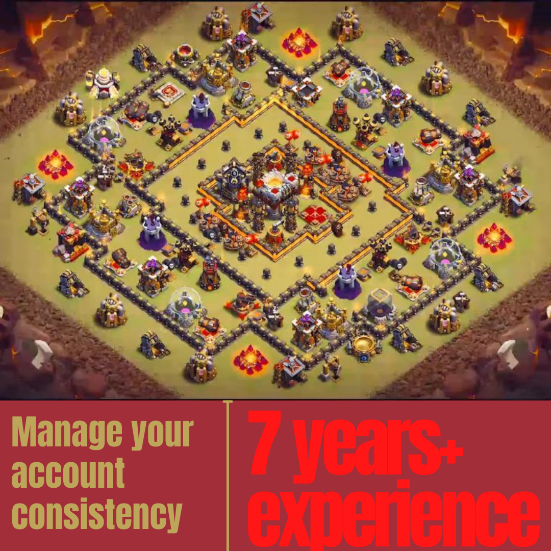 Manage clash of clans and upgrade strategically for 10 day