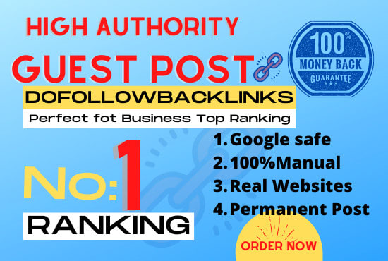 I will do guest post on high da websites with dofollow backlinks