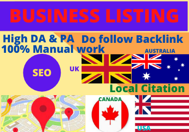 45 Local Citation,  local listing,  business listing to top local directory website for local seo
