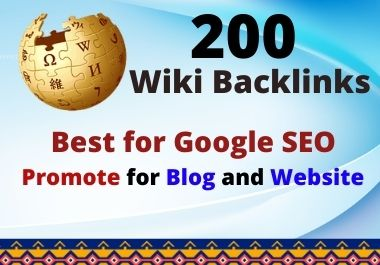 Get 200+ High Authority Wiki Backlinks Mix Profile and Articles Google Rank