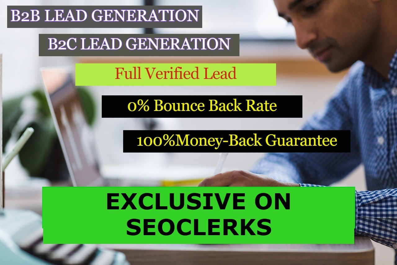 I will do web research with all kind of verified leads