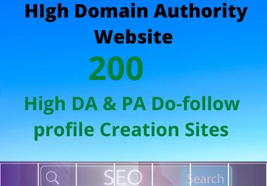 I Will Create 200 High DA & PA 80+ Profile Backlinks for Google Ranking
