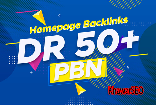 GET 3 High Quality DR 50+ Homepage PBN Backlinks with Dofollow Quality Links