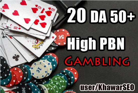 Get 20 powerfull Quality DA 50+ PBN Backlinks on Casino/ Gambling/ Poker related sites.