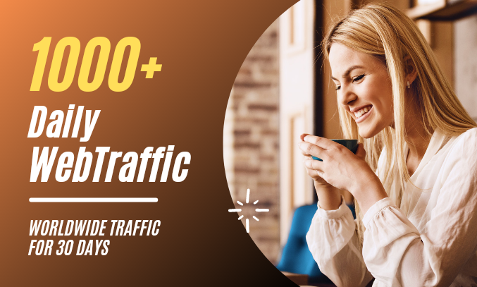 Real 1000 Daily Website Traffic Worldwide For One Month