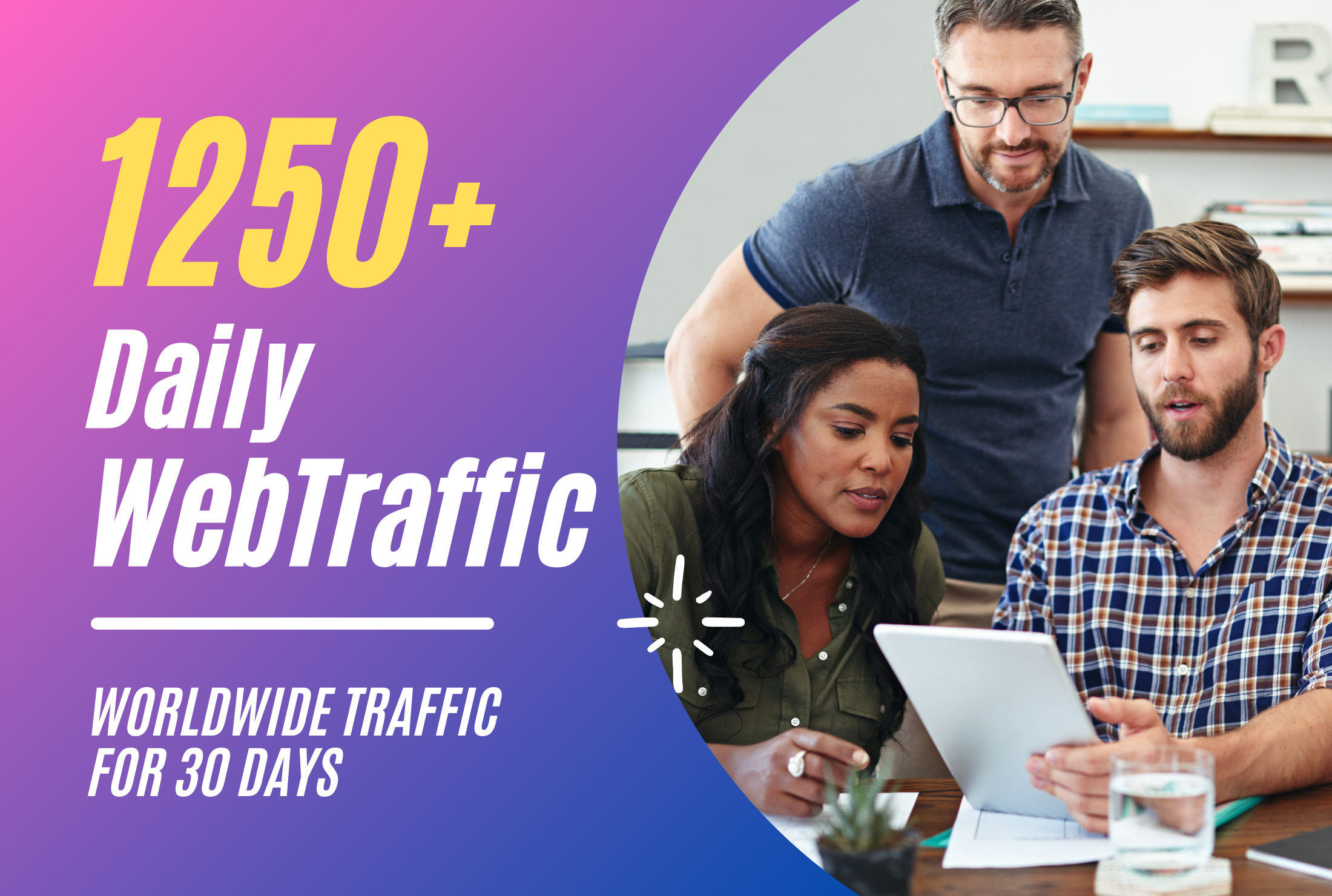 Drive 1250 Daily Web Traffic Worldwide For 30 Days