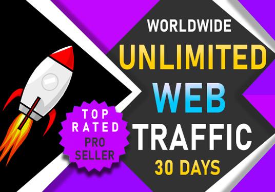 I will drive worldwide unlimited website traffic