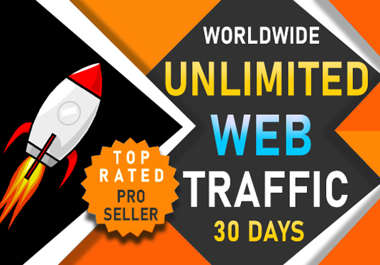 I will drive worldwide unlimited website traffic from search engine & social media