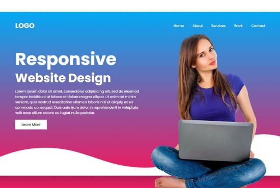 I will design responsive website in 10 hours