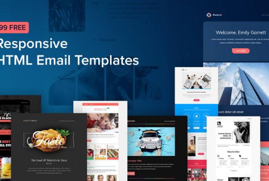 I will design your MailChimp newsletter template seller