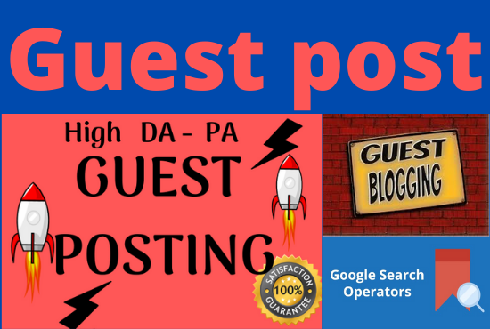 I will create manually Top 20 Guest posting website an high da - pa guest blogging website