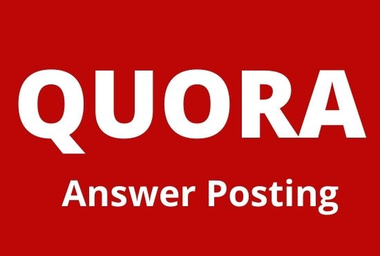 Boost your website with 20 High quality Quora Answers with contextual links