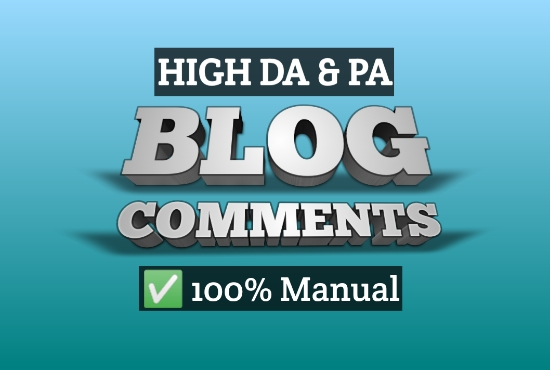 Get 200 Manual niche related high DA PA dofollow blog comments