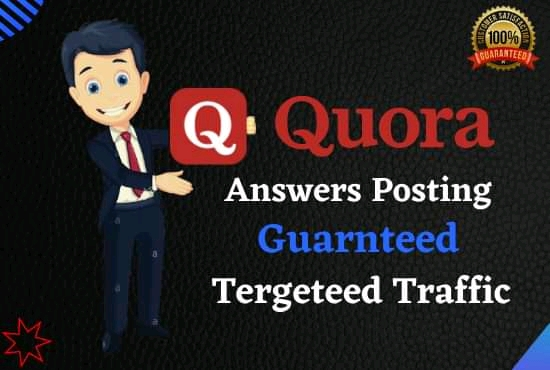 Guaranteed Target Traffic from your Website 30 High-Quality Keyword Related Quora Answers post