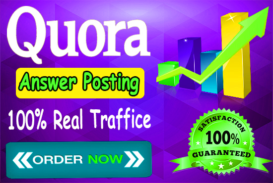 promote your website by High Quality 3 Quora Answers