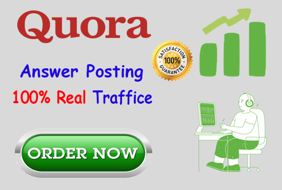 Guaranteed promote your website by High Quality 10 Quora Answers
