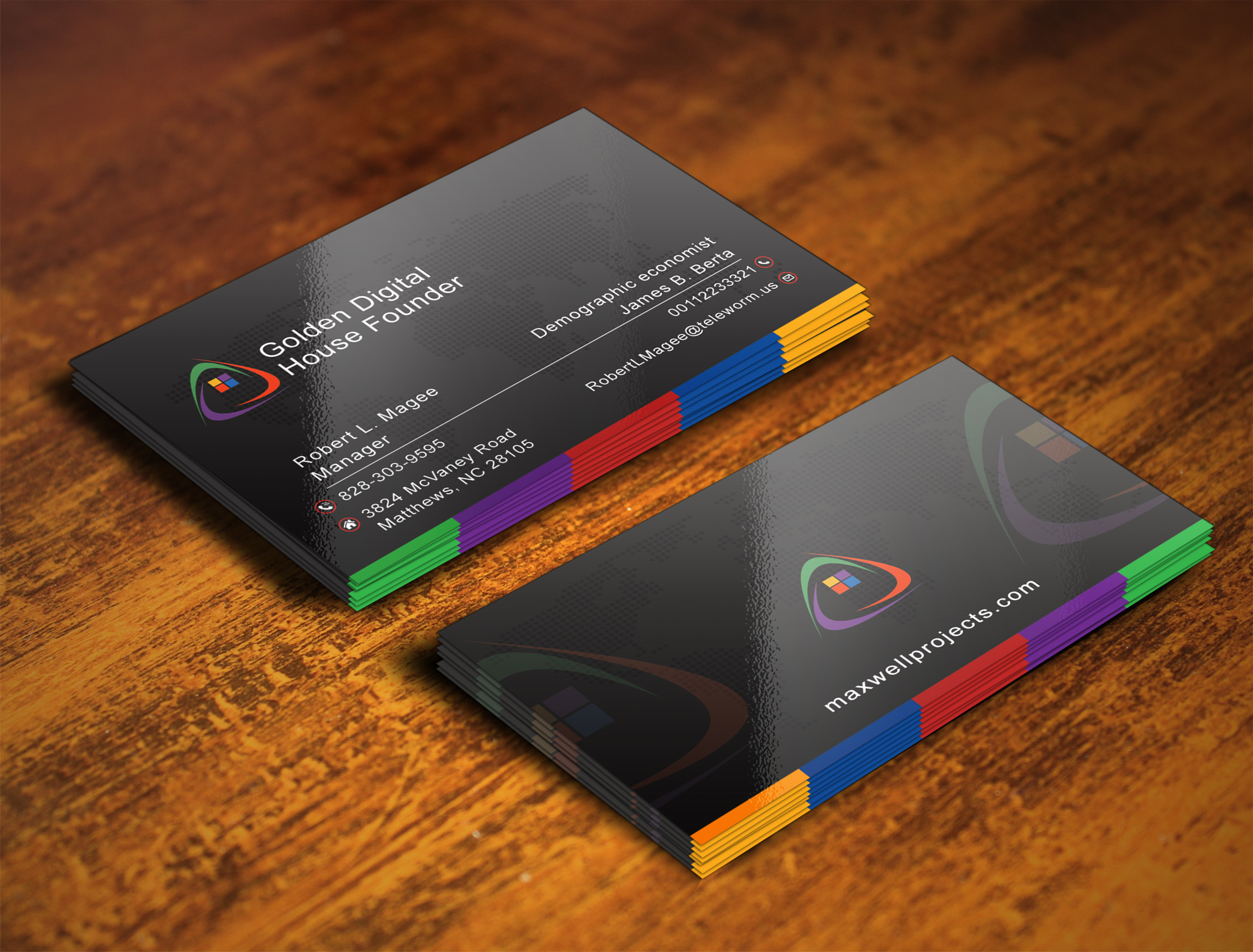 design modern minimalist luxury business card