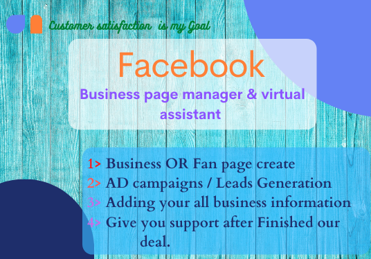 I will be your Social marketing manager and virtual Assistant