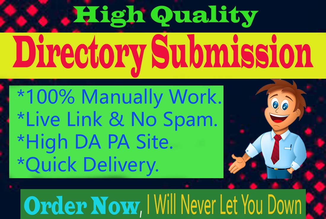 I Will Do 50 Manually Best Quality Directory Submission Backlinks on High Authority Site.