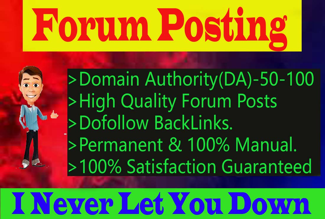 I will Create 50 High Quality Forum Posting Backlinks for Website Ranking