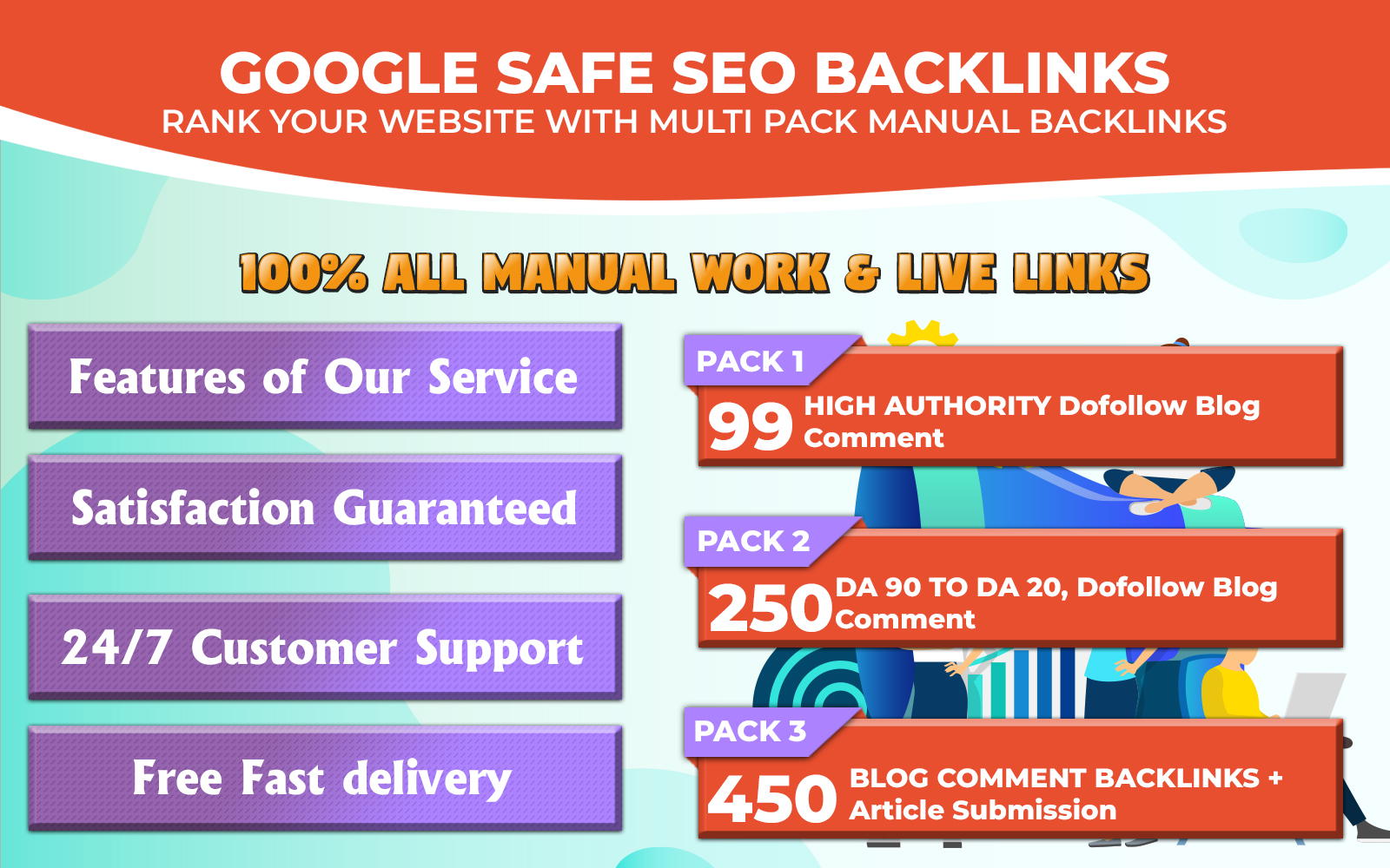 I will do make 99 dofollow blog comment backlinks off page seo