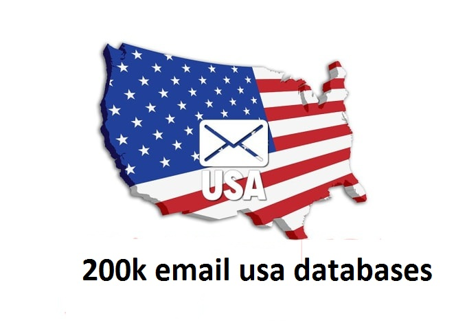 I Will Provide 200k Email usa list For Email Marketing consumer email databases