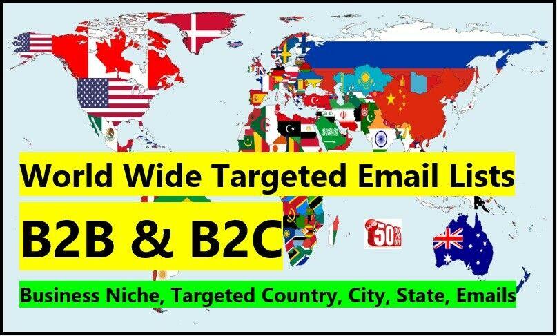 I Will Provide 900 mllion Bulk Email List for Business Email database