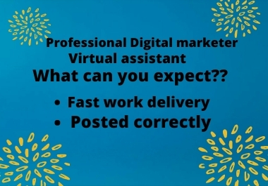 I am a skilled virtual assistant and will bring success to your business.